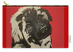 Carry-all Pouch featuring the painting Date With Paint Sept 18 5 by Ania M Milo
