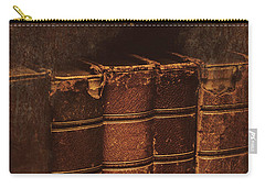Carry-all Pouch featuring the photograph Dated Textbooks by Jorgo Photography - Wall Art Gallery