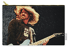 Carry-all Pouch featuring the digital art Dave Grohl by Taylan Apukovska