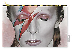 David Bowie Artwork 1 Carry-all Pouch by Sheraz A