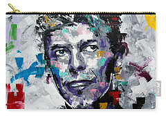 Carry-all Pouch featuring the painting David Bowie II by Richard Day