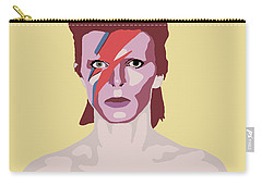 David Bowie Carry-all Pouch by Nicole Wilson