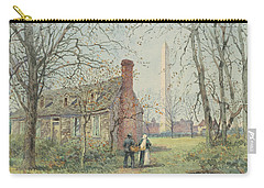 David Burns's Cottage And The Washington Monument, Washington Dc, 1892  Carry-all Pouch