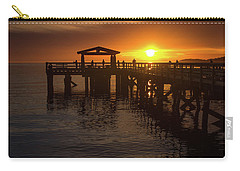 Davis Bay Pier Sunset 2 Carry-all Pouch