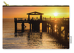 Davis Bay Pier Sunset 3 Carry-all Pouch