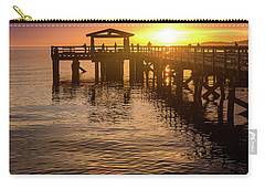 Davis Bay Pier Sunset 4 Carry-all Pouch