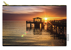 Davis Bay Pier Sunset 5 Carry-all Pouch