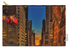 Carry-all Pouch featuring the photograph Dawn At 42nd Street Nyc by Susan Candelario