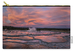 Dawn At Great Fountain Geyser Carry-all Pouch
