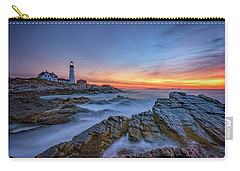 Dawn At Portland Head Lighthouse Carry-all Pouch
