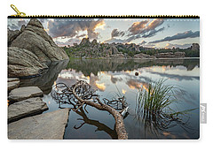 Carry-all Pouch featuring the photograph Dawn At Sylvan Lake by Adam Romanowicz