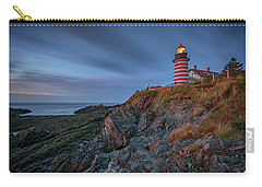 Carry-all Pouch featuring the photograph Dawn At West Quoddy Head by Rick Berk