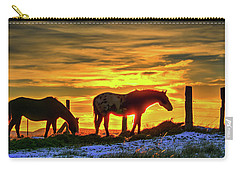 Dawn Horses Carry-all Pouch