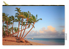 Carry-all Pouch featuring the photograph Dawn In Punta Cana by Adam Romanowicz