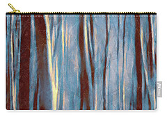Dawn In The Winter Forest - Landscape Mood Lighting Carry-all Pouch