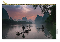 Waiting For Sunrise On Lee River. Carry-all Pouch