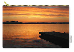 Dawn On The Water At Dusavik Carry-all Pouch