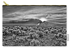 Dawn Over Magic Taos In B-w Carry-all Pouch