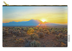 Dawn Over Magic Taos Mountain Carry-all Pouch