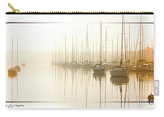 Dawn Reflections - Yachts At Anchor On The River Carry-all Pouch