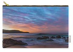 Dawn Seascape With Rocks And Clouds Carry-all Pouch