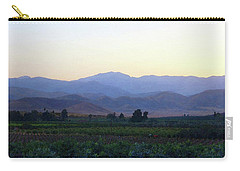 Dawn View Of The Sierras Carry-all Pouch by Timothy Bulone