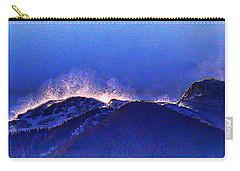 Carry-all Pouch featuring the photograph Dawn With Snow Banners Over Truchas Peaks by Anastasia Savage Ealy