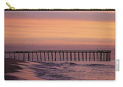 Dawns Purple Waters Carry-all Pouch by Robert Banach