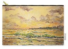 Dawns View Of Siesta Key Carry-all Pouch by Lou Ann Bagnall