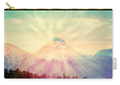 Carry-all Pouch featuring the photograph Dawn's Wonder Glow On My Mountain Muse by Anastasia Savage Ealy