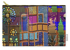 Day And Night Collage Photography Abstract Art From Church Walls Moon Hightide N Graphic Window View Carry-all Pouch by Navin Joshi