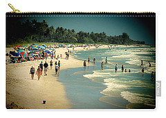 Day At The Beach Carry-all Pouch by Rosalie Scanlon