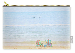 Carry-all Pouch featuring the digital art Day At The Beach Sun And Sand by Randy Steele