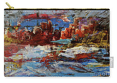 Carry-all Pouch featuring the painting Day Dreaming Sedona Arizona by Reed Novotny