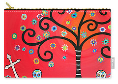 Day Of The Dead Cemetery Carry-all Pouch