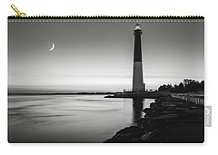 Daybreak At Barnegat, Black And White Carry-all Pouch