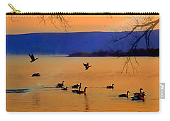 Carry-all Pouch featuring the photograph Daybreak On The Columbia River  by Nick Kloepping