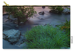 Carry-all Pouch featuring the photograph Daybreak Over The Old Riverbed by Davor Zerjav