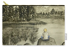 Carry-all Pouch featuring the painting Daydream Lake by Kelly Mills