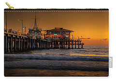 Daylight Turns Golden On The Pier Carry-all Pouch