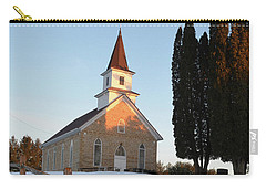 Carry-all Pouch featuring the photograph Daylight's End_vertical by Janice Adomeit