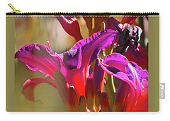 Daylily Abstract Colors - Beauty In The Garden Carry-all Pouch