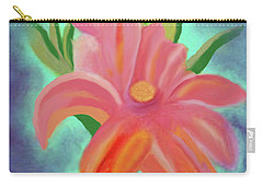 Carry-all Pouch featuring the painting Daylily At Dusk by Margaret Harmon