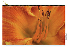 Carry-all Pouch featuring the photograph Daylily Close-up by Sandy Keeton