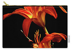 Carry-all Pouch featuring the photograph Daylily Double by Douglas Stucky