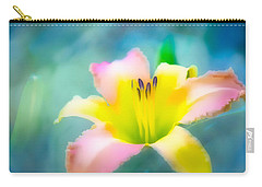 Daylily In Blue Carry-all Pouch