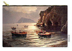 Day's End And Work Begins In The Gulf Of Naples Carry-all Pouch