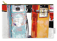 Carry-all Pouch featuring the photograph Days Of Five And Nine Tenths Cents Per Gallon by A Gurmankin