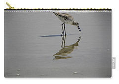 Daytona Beach Shorebird Carry-all Pouch by Chris Mercer
