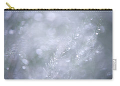 Carry-all Pouch featuring the photograph Dazzling Silver World by Jenny Rainbow